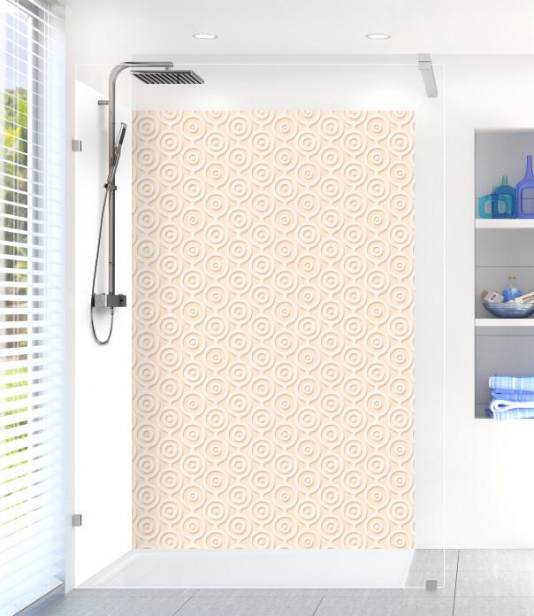 Panneau de douche Papier peint rétro couleur sable