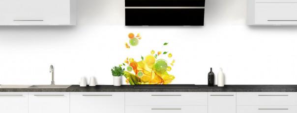 Crédence de cuisine Danse de fruits panoramique
