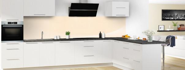 Crédence de cuisine Ombre et lumière couleur sable panoramique motif inversé en perspective