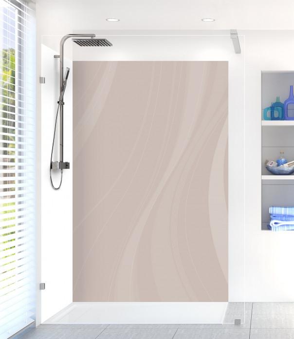 Panneau de douche Voilage couleur argile motif inversé
