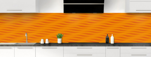 Crédence de cuisine Ondes couleur abricot panoramique