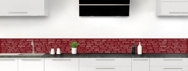 Crédence de cuisine Etapes de recette couleur rouge pourpre dosseret