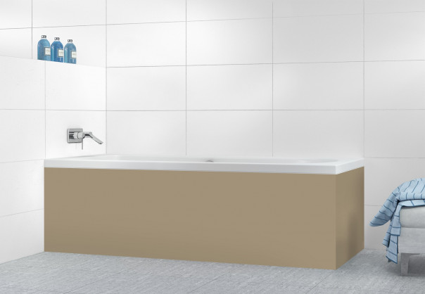 Panneau tablier de bain Marron Glacé