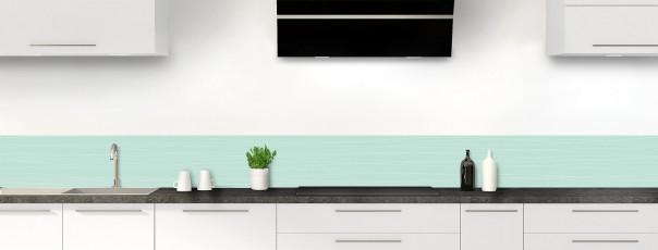 Crédence de cuisine Lignes horizontales couleur vert pastel dosseret