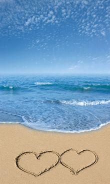 Crédence Cœurs sur le sable