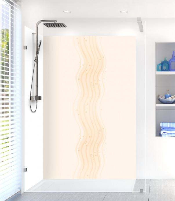 Panneau de douche Vagues design couleur magnolia
