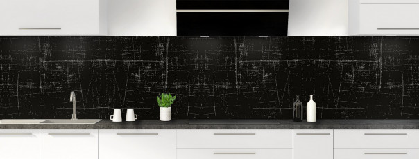 Crédence de cuisine Ardoise rayée couleur noir panoramique