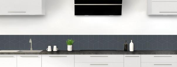Crédence de cuisine Cubes en relief couleur gris carbone dosseret