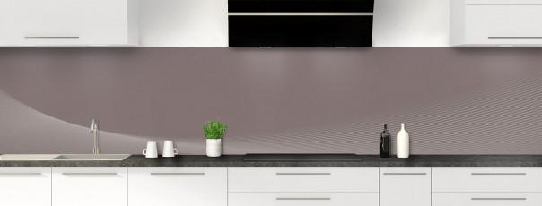 Crédence de cuisine Ombre et lumière couleur taupe panoramique