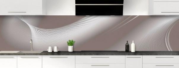 Crédence de cuisine Volute couleur taupe panoramique