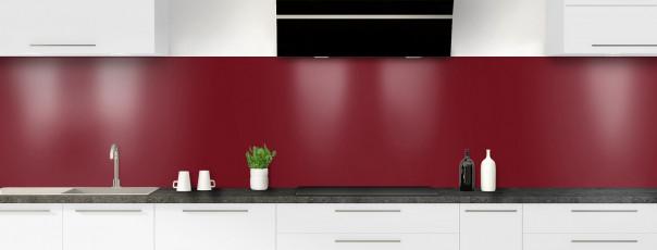 Crédence de cuisine Rouge pourpre panoramique