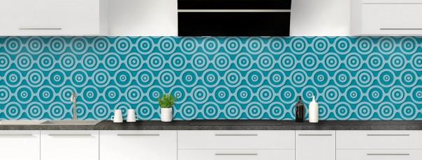 Crédence de cuisine Papier peint rétro couleur bleu canard panoramique
