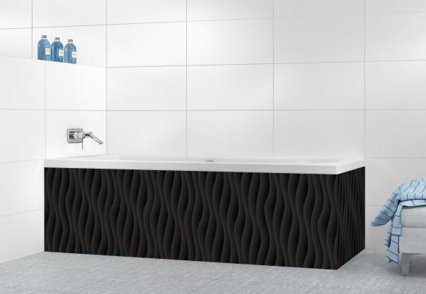 Panneau tablier de bain Ondes couleur noir