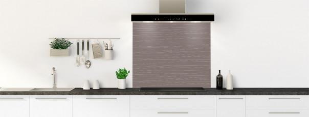 Crédence de cuisine Lignes horizontales couleur taupe fond de hotte