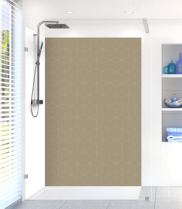 Panneau de douche Cubes en relief couleur marron glacé