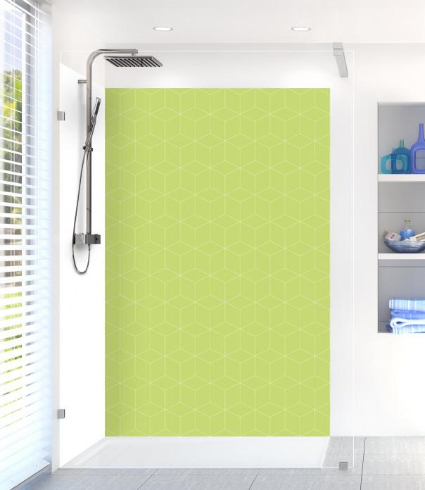 Panneau de douche Cubes en relief couleur vert olive