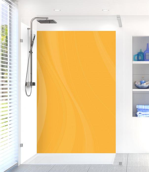Panneau de douche Voilage couleur abricot