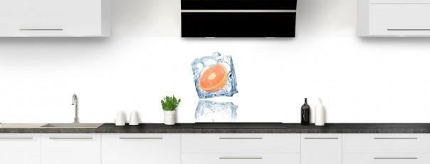 Crédence de cuisine Orange glacée panoramique