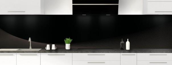 Crédence de cuisine Ombre et lumière couleur noir panoramique