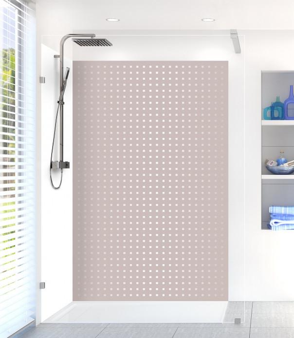 Panneau de douche Petits carrés couleur argile