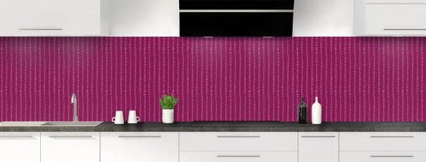 Crédence de cuisine Pointillés couleur prune panoramique