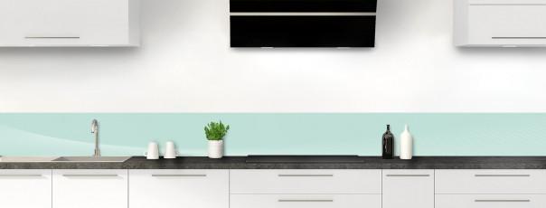 Crédence de cuisine Ombre et lumière couleur vert pastel dosseret