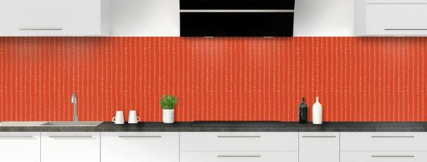 Crédence de cuisine Pointillés couleur rouge brique panoramique