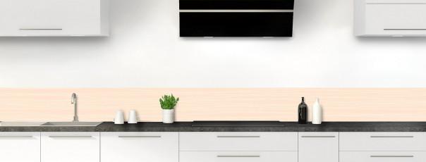 Crédence de cuisine Lignes horizontales couleur sable dosseret