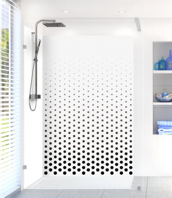 Panneau de douche Pluie de points couleur noir