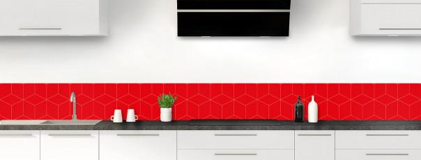 Crédence de cuisine Cubes en relief couleur rouge vif dosseret