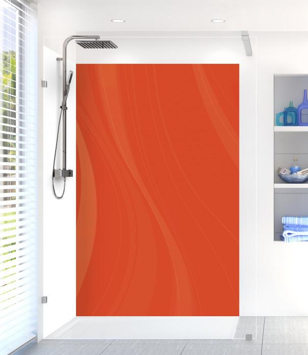 Panneau de douche Voilage couleur rouge brique
