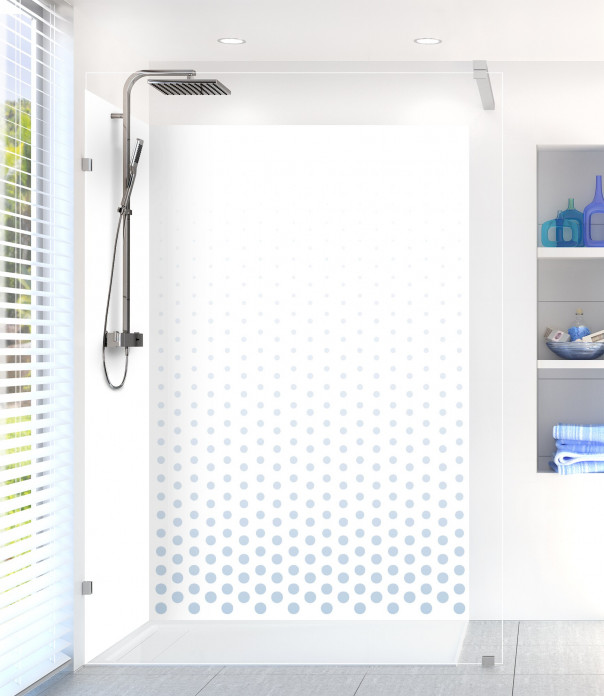 Panneau de douche Pluie de points couleur bleu azur