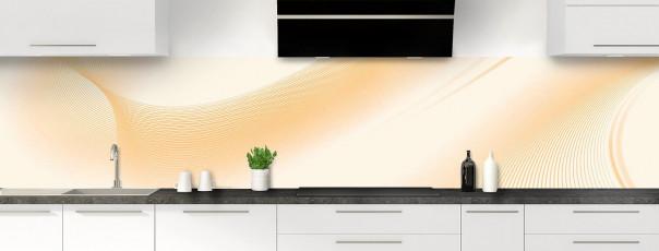 Crédence de cuisine Volute couleur magnolia panoramique