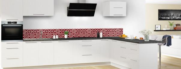 Crédence de cuisine Papier peint rétro couleur rouge pourpre dosseret en perspective