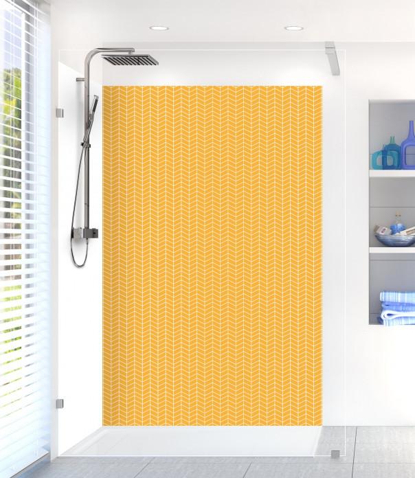 Panneau de douche Origami  couleur abricot