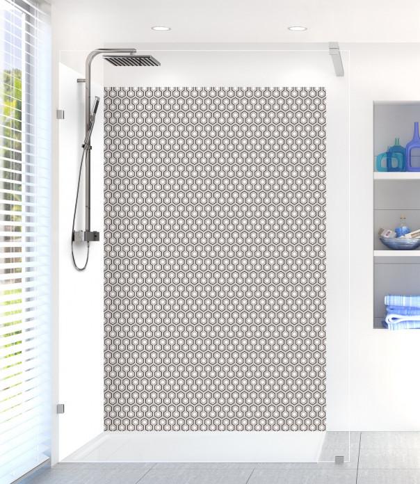 Panneau de douche Hexagones  couleur argile