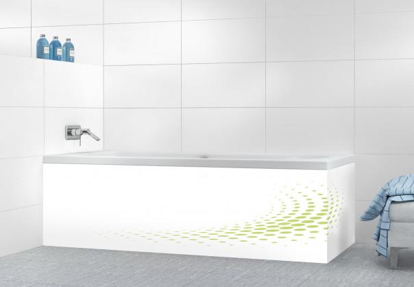 Panneau tablier de bain Nuage de points couleur vert olive