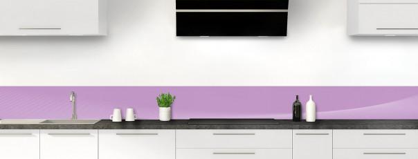 Crédence de cuisine Ombre et lumière couleur parme dosseret motif inversé