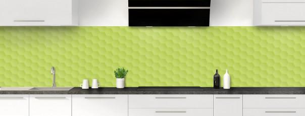 Crédence de cuisine Nid d'abeilles couleur vert olive panoramique