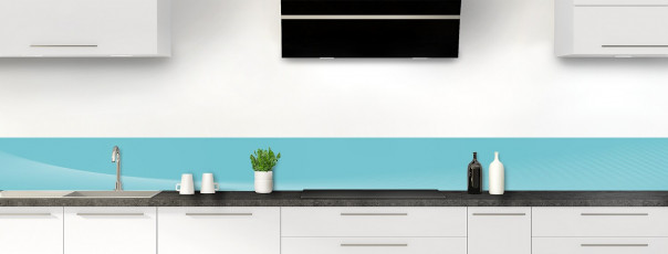 Crédence de cuisine Ombre et lumière couleur bleu lagon dosseret