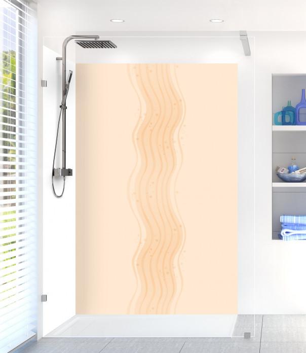Panneau de douche Vagues design couleur sable