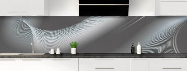 Crédence de cuisine Volute couleur gris carbone panoramique