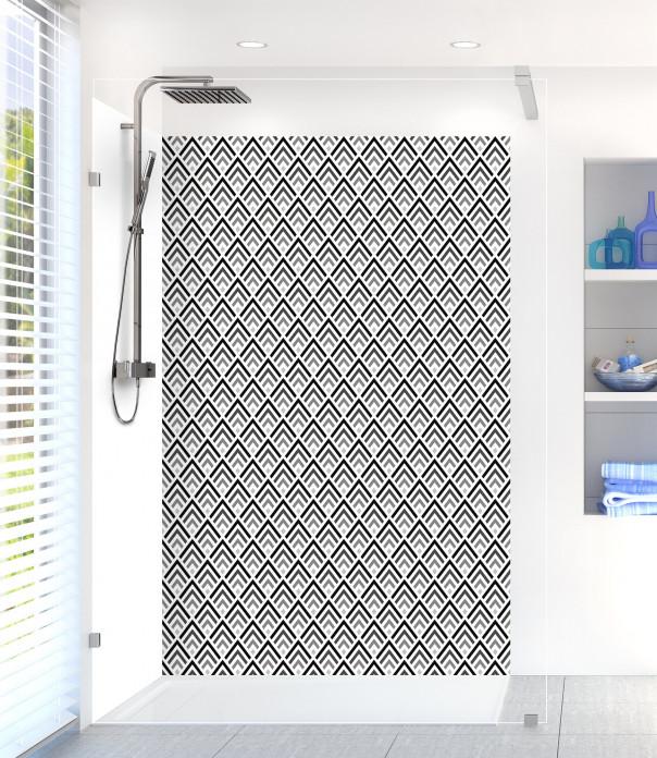 Panneau de douche Ecailles  couleur noir