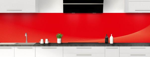 Crédence de cuisine Ombre et lumière couleur rouge vif panoramique motif inversé