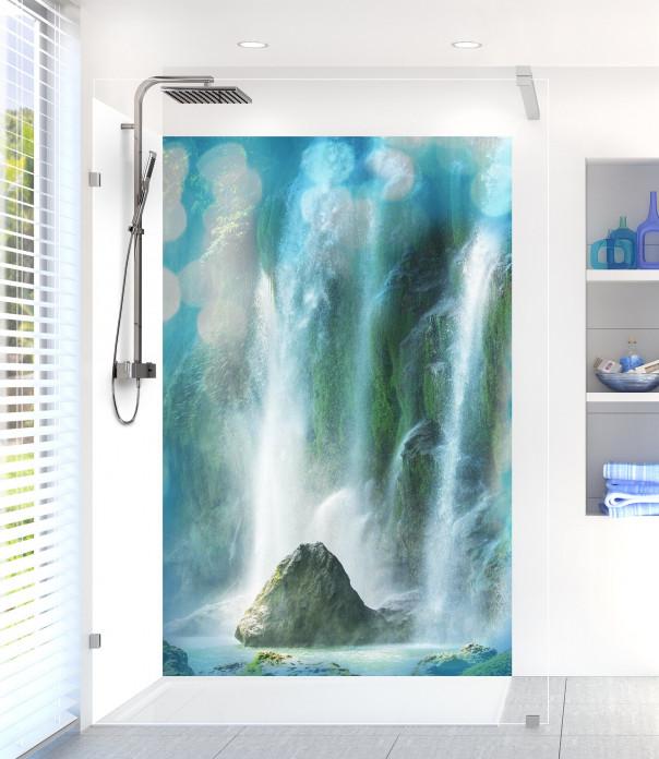 Panneau de douche Rocher et cascade