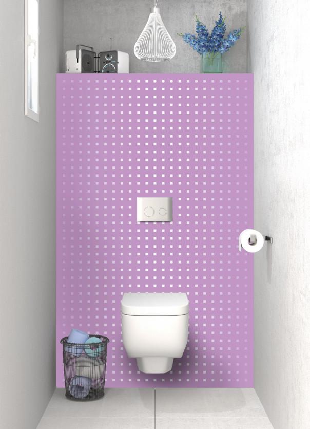 Panneau WC Petits carrés couleur parme