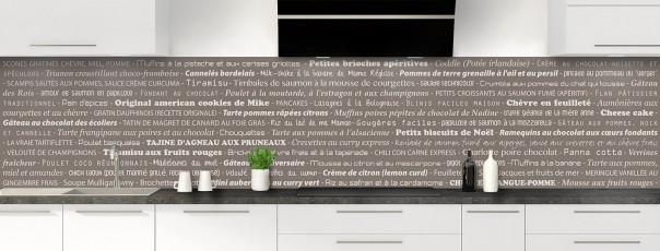 Crédence de cuisine Recettes de cuisine couleur taupe panoramique