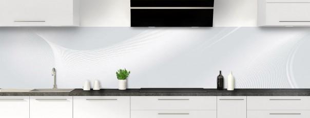 Crédence de cuisine Volute couleur gris clair panoramique