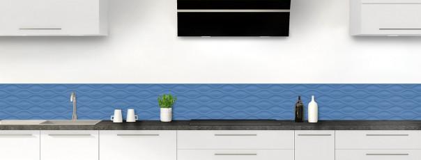 Crédence de cuisine Motif vagues couleur bleu lavande dosseret