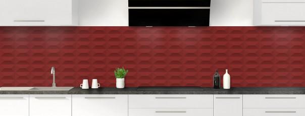 Crédence de cuisine Briques en relief couleur rouge pourpre panoramique